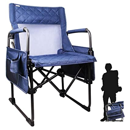 Folding Lawn Chairs Heavy Duty.Zenree Folding Transformer Camping Director S Chair Heavy Duty Portable Sports Outdoor Chairs With Breathable Mesh Seat Armrest Cup Holder Big Side
