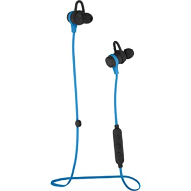 AmazonBasics Wireless Bluetooth Fitness Headphones Earbuds with Microphone, Blue