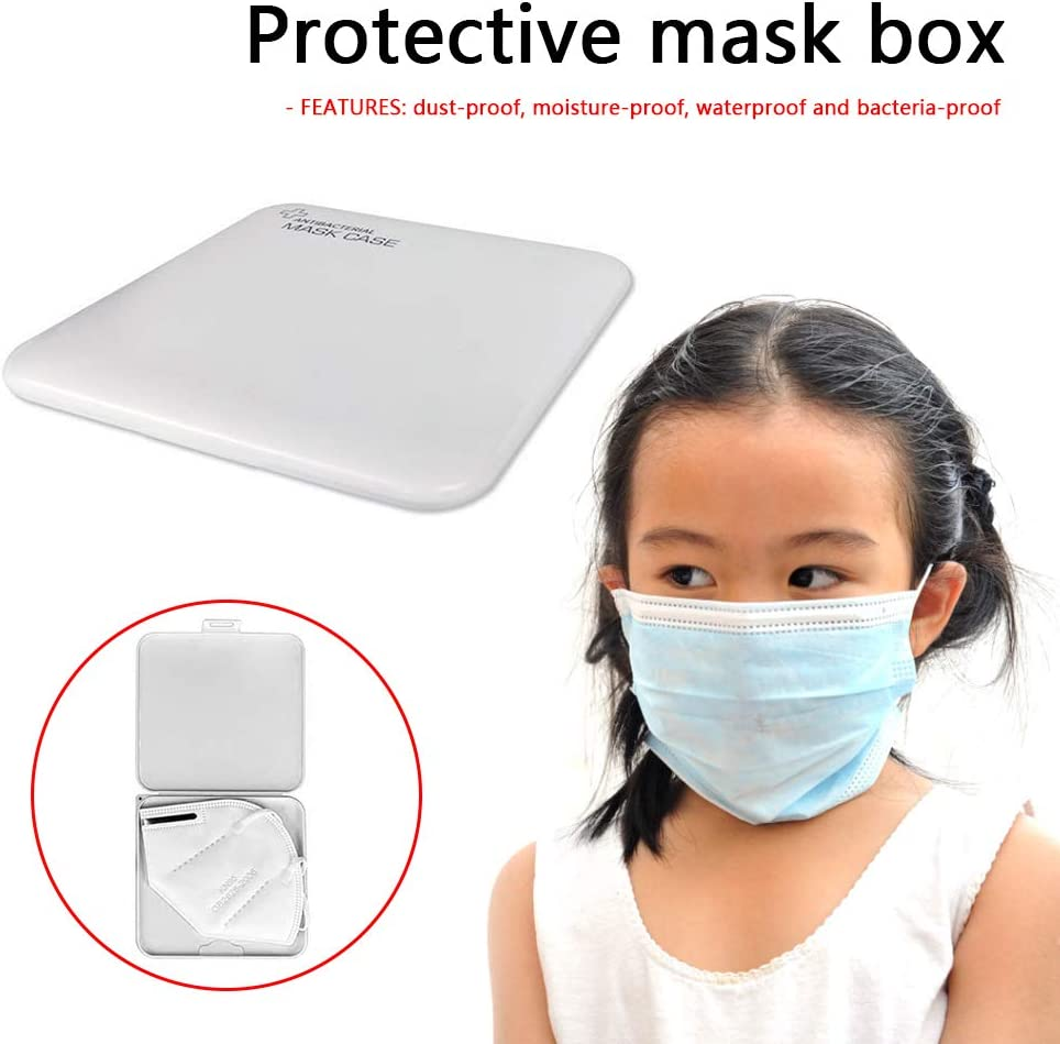 Blanco Trendyest Caja para Guardar Mascarillas Estuche para Mascarillas Caja Mascarillas Antipolvo para Guardar y Organizador