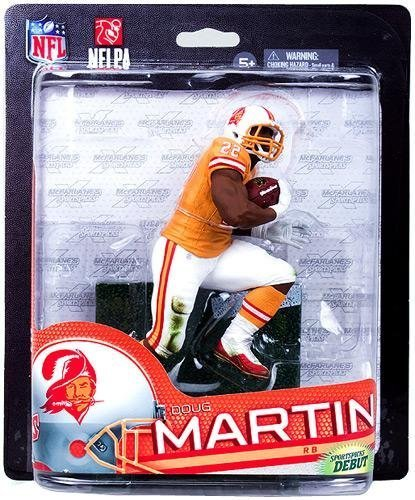 McFarlane Toys NFL Sports Picks Series 33 Collectors Club Exclusive Action Figure Doug Martin (Tampa Bay Buccaneers) Orange Retro Uniform by McFarlane - Buccaneers Bay Tampa Uniform
