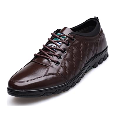 Shoes Mens Shoes Casual Leather Loafers height Increase Shoes Formal Business Work (Color : Black Size : 39)