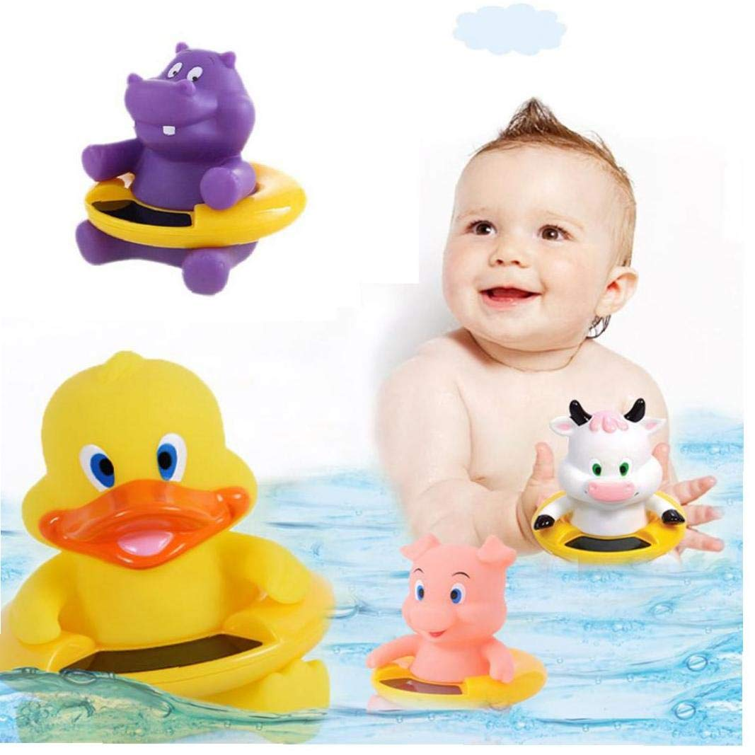 VlugTXcJ Lustige Baby-Thermometer-Baby-Bad Schwimmdock Spielzeug Badewanne Thermometer Wassertemperatur Tester Toy Thermometer F/ür Baby-Baden Purple Hippo