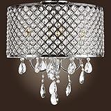 Museum Light Modern Crystal Chandelier Flush Mount Light Lighting Fixture 4 lights CA-101/D-4L W14 Silver