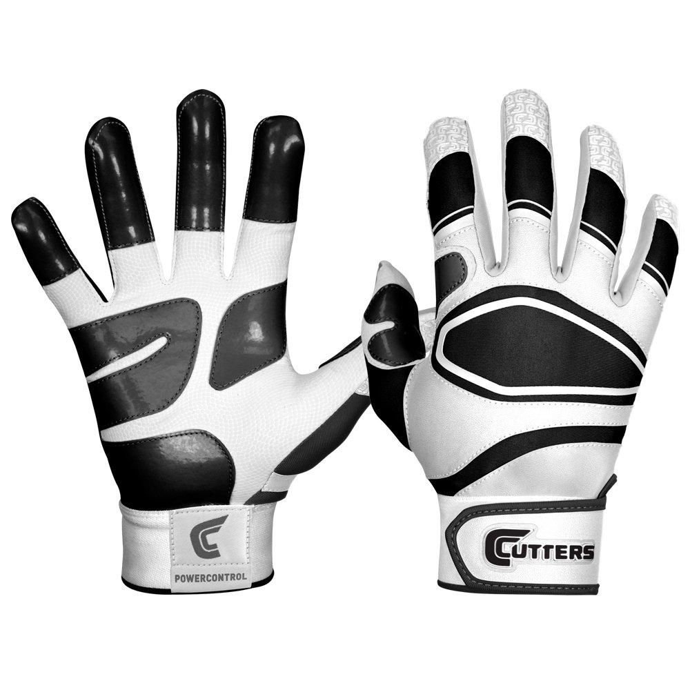 カッター手袋メンズ電源コントロール野球バッティンググローブ B00G6J94JW Small|ホワイト/ブラック ホワイト/ブラック Small