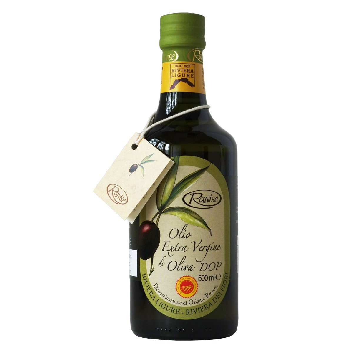Ligurian Italian Extra Virgin Olive Oil DOP 16.9 fl oz - Pack of 2 by Ranise (Image #1)