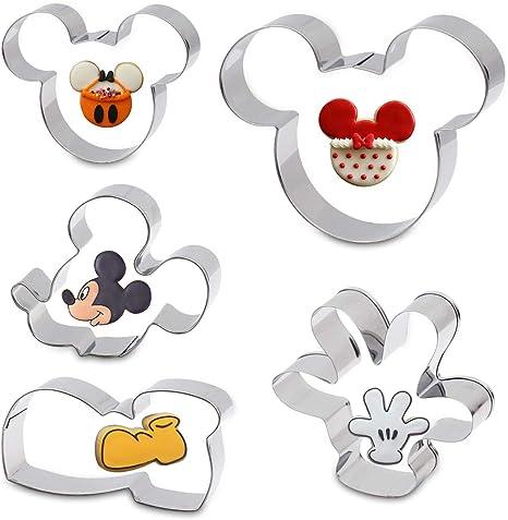 Cortador De Galletas Para Niños Sándwich De Dibujos Animados De Mickey Mouse Cortador De Galletas En Forma De Molde Para Bricolaje Cake Craft Bakeware Decoración De Acero Inoxidable Set De