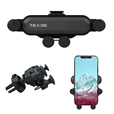 Car Phone Mount, Air Vent Phone Holder for Car,Shockproof, Stable, Non-Slip, Mobile Phone Holder Compatible with iPhone Xs/Xs Max/XR/X / 8/8 Plus /7/7 Plus Samsung Galaxy S10/S10+/S9/S9+ (Black)