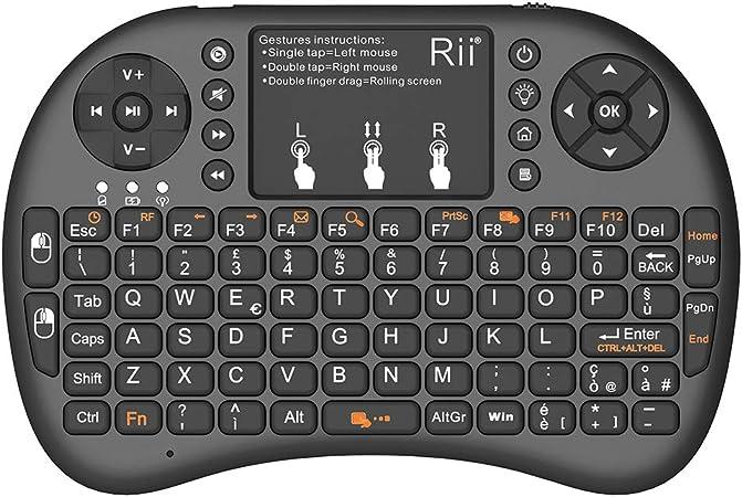 Rii Mini i8+ - Mini teclado inalámbrico (disposición de ...