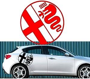 2pcs for Alfa Romeo graphics stickers decals Giulietta MiTo Spark etc Giulietta147 156 159 166 Giulietta Spider GT (RED)
