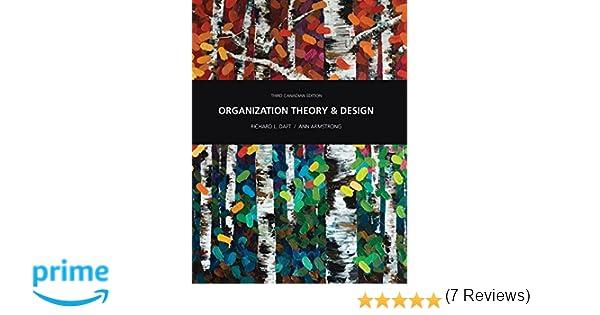 Organization theory and design richard daft ann armstrong organization theory and design richard daft ann armstrong 9780176532208 education amazon canada fandeluxe Images