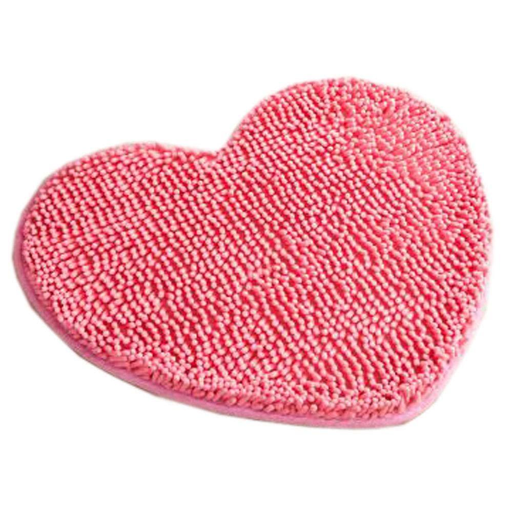 Household Outdoor-Indoor Doormats Antiskid Entrance Mat Bathroom Carpet Love Heart, Pink - Household Outdoor-Indoor Doormats Antiskid Entrance Mat Bathroom Carpet Love Heart, Pink