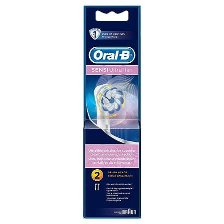 Oral-B SensiUltra Thin 2 cabezales de cepillo (1 paquete): Amazon ...
