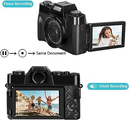 Cámara Digital Camara de Fotos Camara Fotos 2.7K 30FPS 30.0MP 3.0 ...