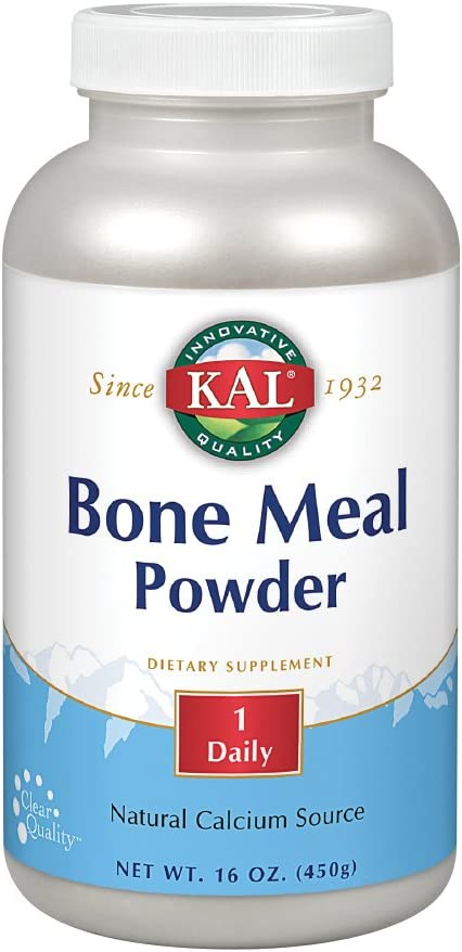 KAL Bone Meal Powder | Sterilized & Edible Supplement Rich in Calcium, Phosphorus, Magnesium | for Bones, Teeth, Nerves, Muscular Function | 16 oz