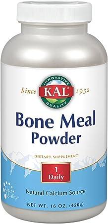 KAL Bone Meal Powder   Sterilized & Edible Supplement Rich in Calcium, Phosphorus, Magnesium   For Bones, Teeth, Nerves, Muscular Function   16 oz