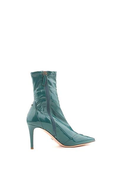 9a8cdd2b3ce Elisabetta Franchi Women s Sa21l87e2804 Blue Leather Ankle Boots   Amazon.co.uk  Shoes   Bags