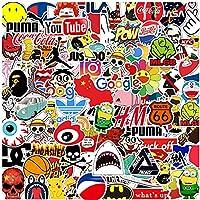 Laptop Sticker Pack 100 stuks, Trendy Sticker Unieke Cool Stickers Waterfles Notebook Gitaar Skateboard Travel Kid…