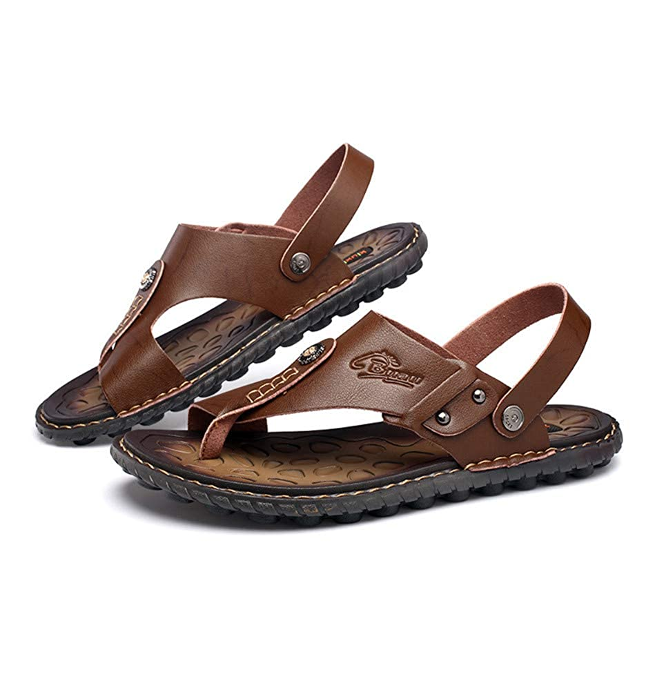 Brown HHXWU Shoes Mens Shoes Slippers Sandals Large Size Beach Cool Casual Shoes 40