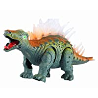 Electronic Walking Jurassic Stegosaurus Dinosaur Toy Figure with Lights and Roaring Sounds