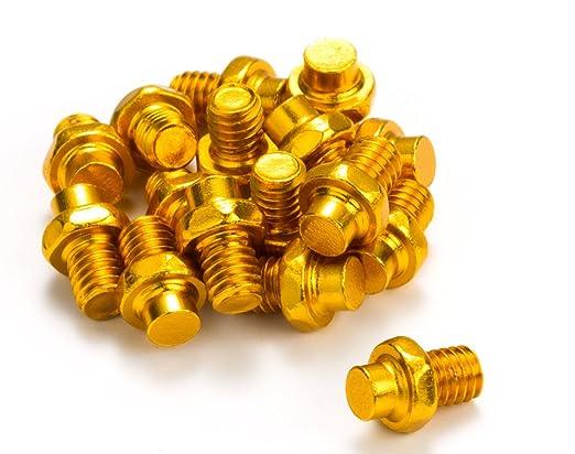 Reverse Pin set 10.9/'/' M4x4 Stahl gold