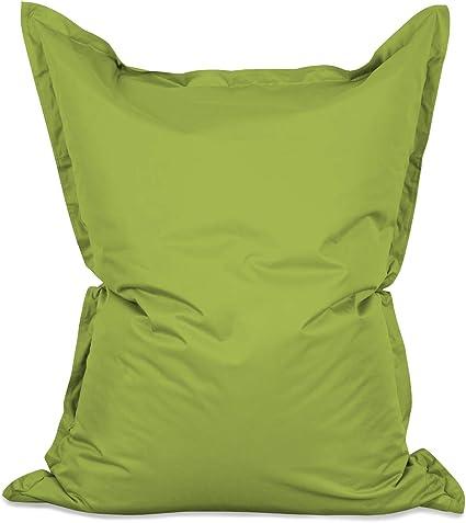 Imagen deLumaland PUF otomano Puff XXL 140 x 180 cm 380l con Relleno Innovador Maxi Puff Interior Exterior Verde