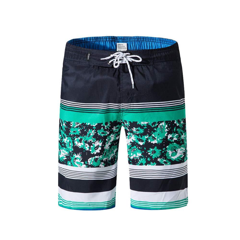 OME&QIUMEI Pantalones Cortos De Playa para Hombre con Estampado De ...