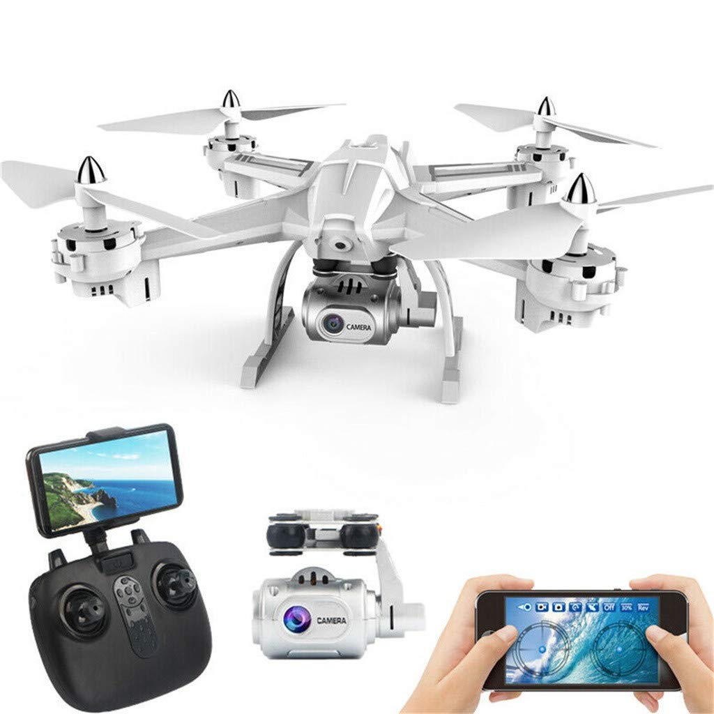 Hisoul S5 RC Quadcopter Drone - 5.8G 6-Axis Built-in 1080P HD Camera WiFi FPV RC Drone Selfie Quadcopter - Headless Mode/Hovering Control/360 Degree Rollover (♥ White)