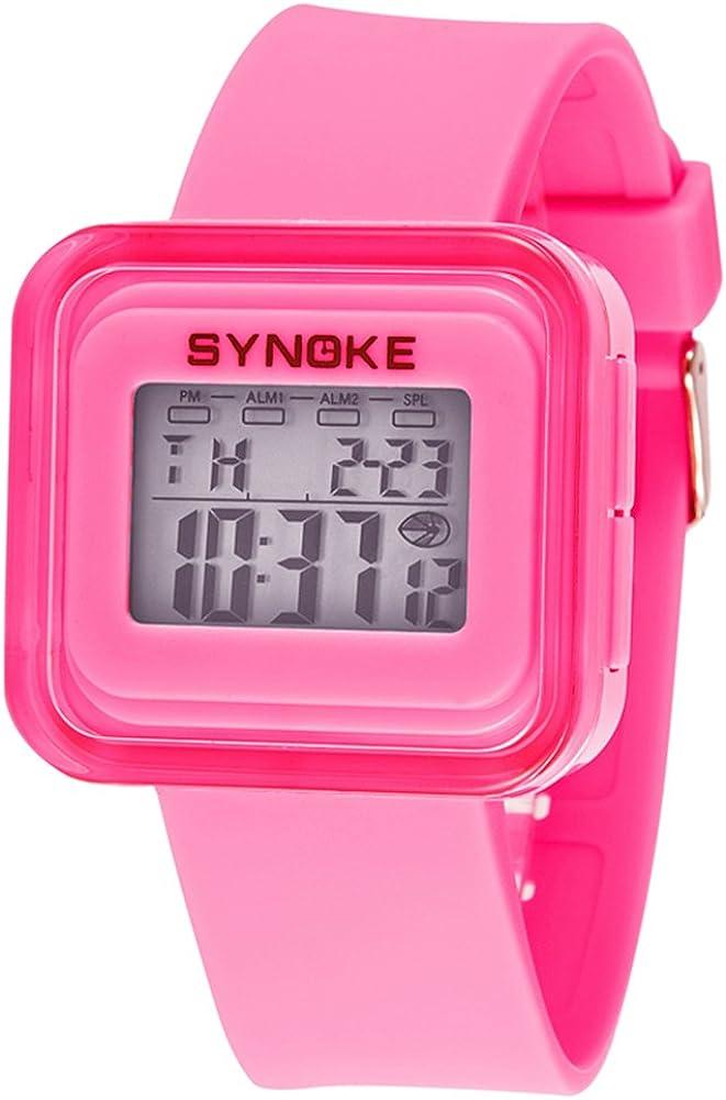 yavinetスポーツStopwatchesデジタル手首学生用時計ガールズ