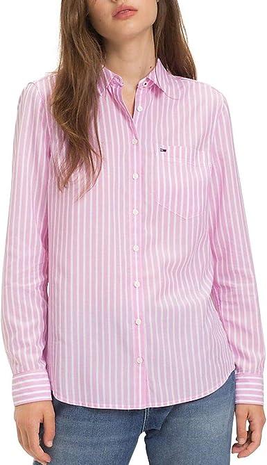 Tommy Hilfiger - Camisa de Manga Larga Mujer Color: Rosa Talla: S: Amazon.es: Ropa y accesorios