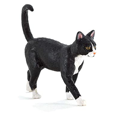 MOJO Cat Black & White Toy Figure: Toys & Games