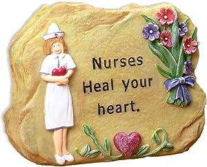 BANBERRY DESIGNS Nurses Heal Your Heart Miniature Rock - Gifts for Nurses - Nurses Gifts - Nurse Angel - Nursing - Nurse Gifts