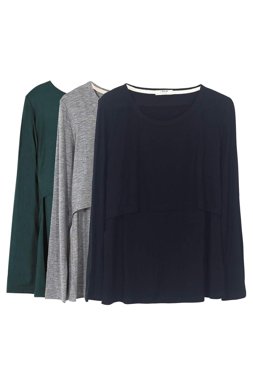 Smallshow SHIRT レディース B0791T9YXN S|Green/Black/Grey Green/Black/Grey S