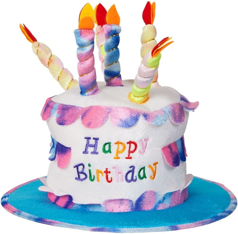 Sensational Amazon Com Adult Happy Birthday Cake Hat With Candles Fancy Dress Personalised Birthday Cards Veneteletsinfo