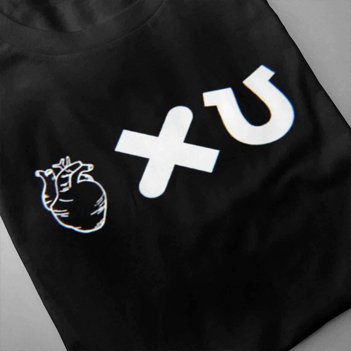 SHENGN Men Printing Casual Lucky Love Death Robots Logo Short Sleeve Classic T Shirt Black