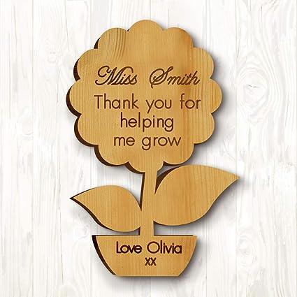 Personalised Teacher Thank you Gifts School Nursery Pre School Leaving Present