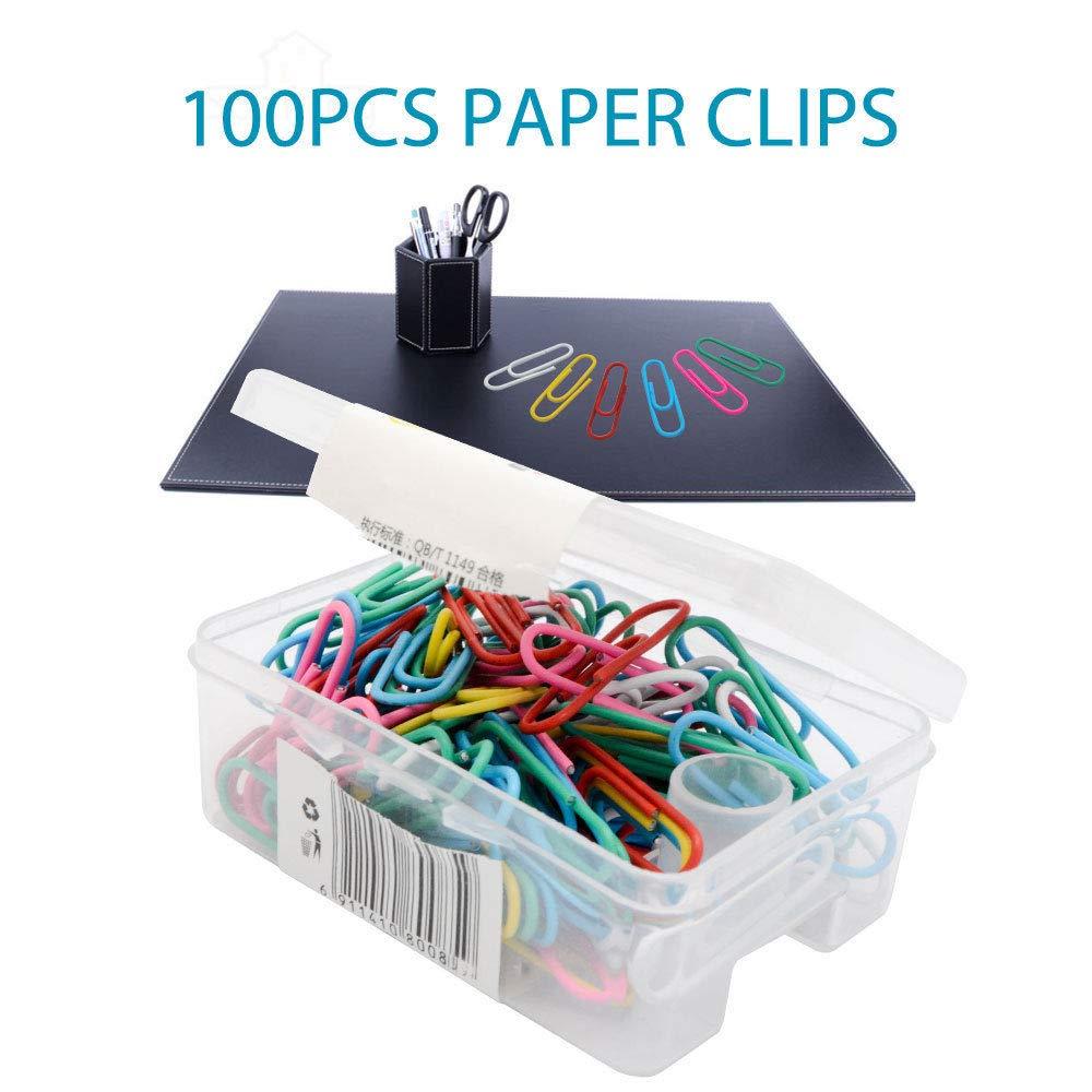 revetu di graffette di carta colori assortiti 100pcs Graffette Magnetico colorati in metallo 28/mm