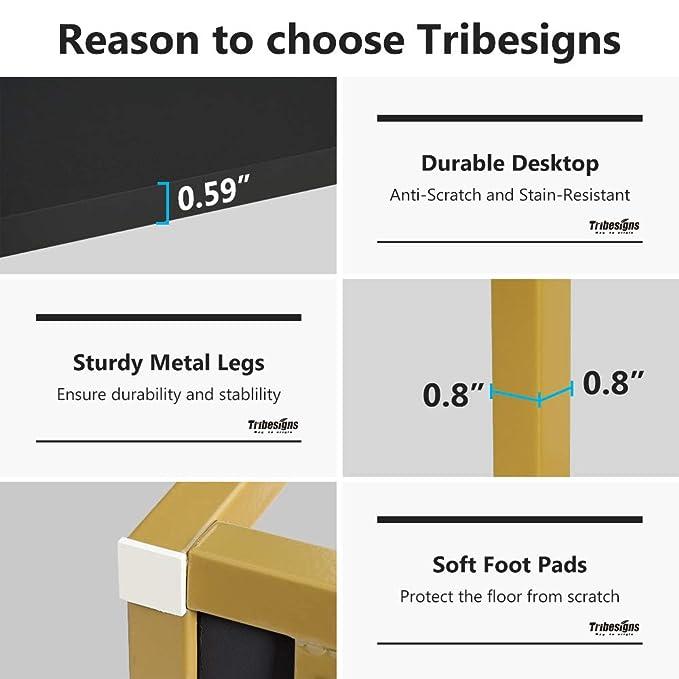 Escritorio Tribesigns para dos personas con estantes de ...
