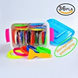 NanHong roll outThe New 3D Pen Filament Refills Storage box Kit 6 Glow in the Dark Colors 1.75mm pla.36 Colors/16 Feet Each Colors Kit,590 Linear Feet Total of.(36)