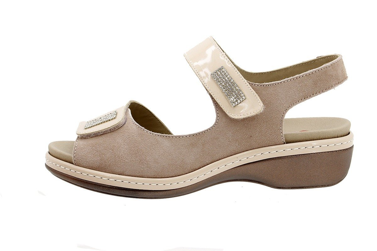 PieSanto Sandale mit Herausnehmbarem Fuszlig;bett 180818 Komfort Damenlederschuh  37 EU|Charol Arena