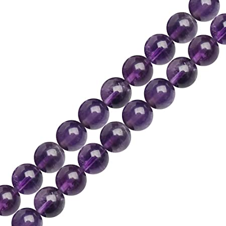 Pcs Gemstones Crafts WHOLESALE 5 Strands Of Quartz Round Beads 6mm Lilac 5x62
