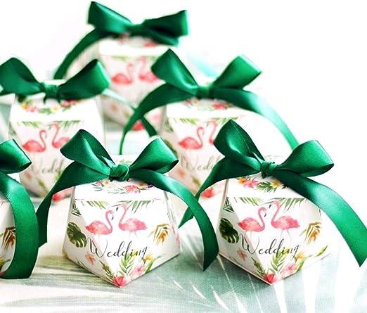 JZK 50 Forma Diamante Verde Cajas Favor Caja Caramelos Dulces ...