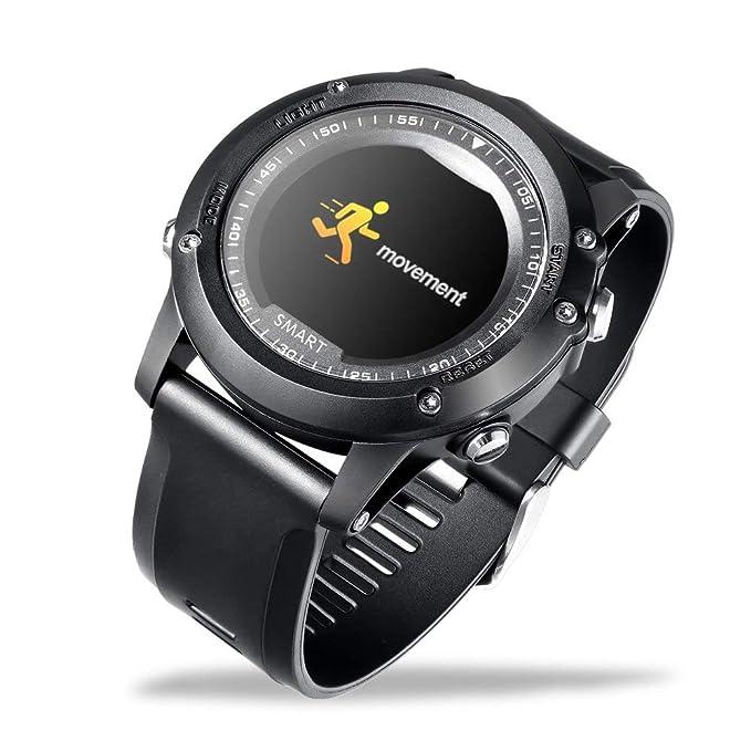HOYHPK Bluetooth Reloj Inteligente Frecuencia Cardíaca Presión ...