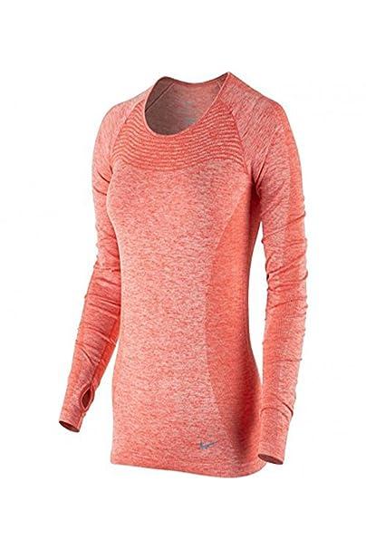 943bf7ce362e5 Amazon.com: NIKE Women's Dri-FIT Knit Long-Sleeve Running Top ...