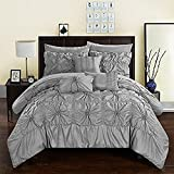 Chic Home CS3587-AN Springfield Comforter Set, Queen, Grey