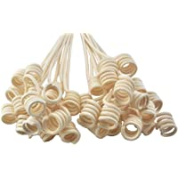 Simoutal Reed Diffuser Sticks, Wavy Spiry Natural Rattan Reed Fragrance Diffuser Replacement Refill Sticks for Essential Oil Diffusers, 20pcs, 11″ Long
