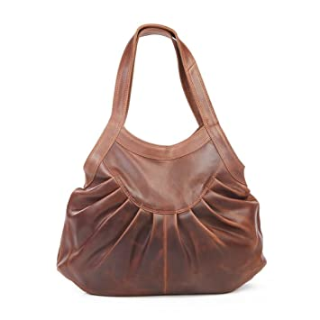 b175801e1a Hetty Leather Pleated Shopper Tote Antique Brown  Amazon.co.uk  Luggage