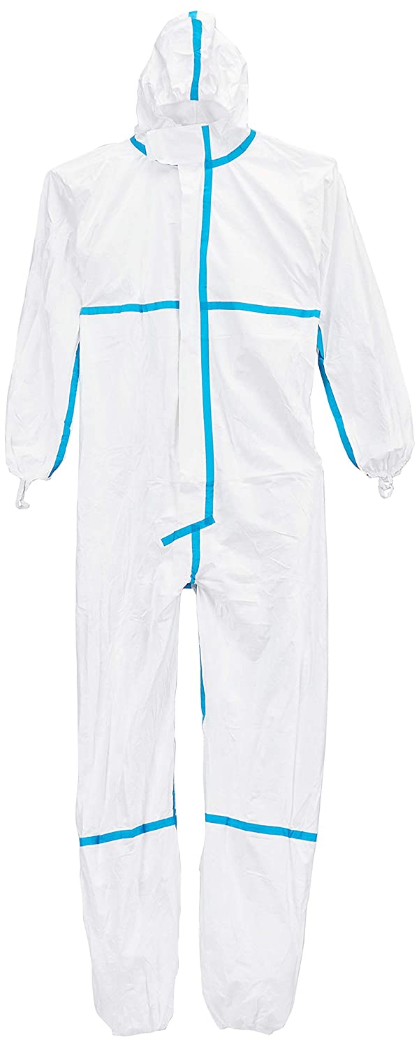 Chemical Protective Clothing DuPont Tyvek 400 Dual Type 5 and 6| Tyvek Front White Size XL Category III SMS Back