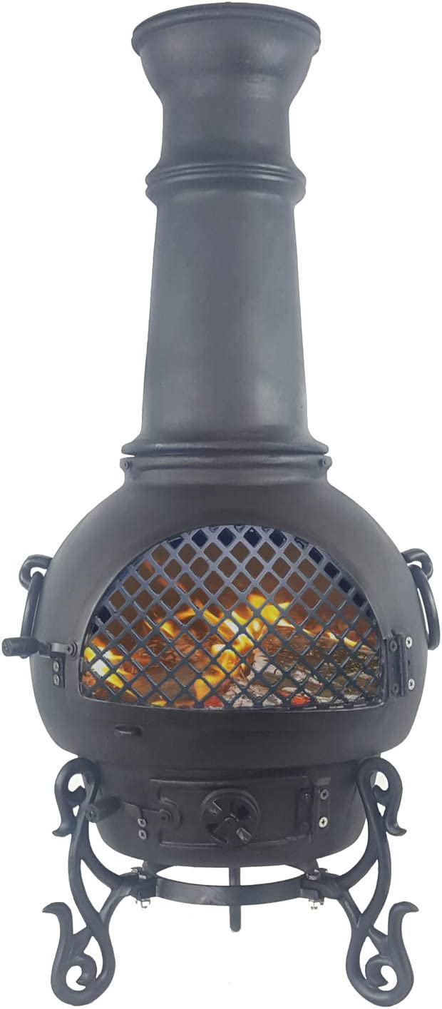 Amazon Com The Blue Rooster Gatsby Wood Burning Chiminea Garden Outdoor