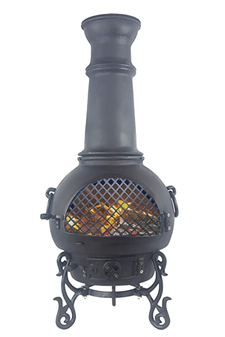 Amazon Com The Blue Rooster Gatsby Wood Burning Chiminea Garden