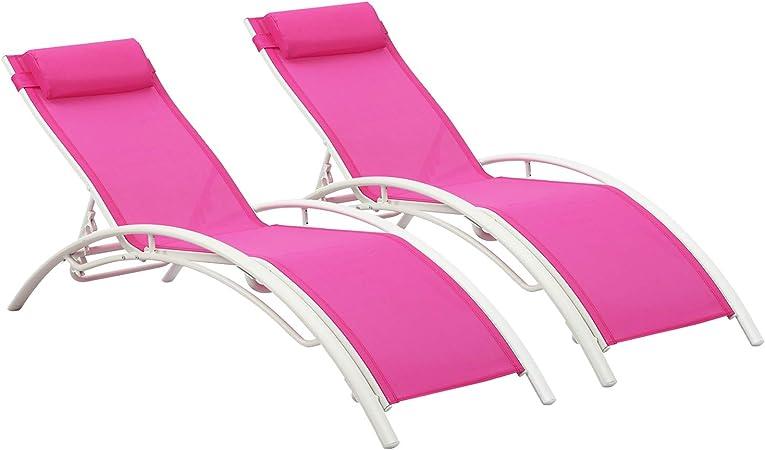 Amazon.com: Wonlink - Juego de 4 sillas reclinables para ...